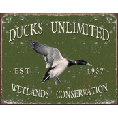 Plaque publicitaire métal Ducks Unlimited