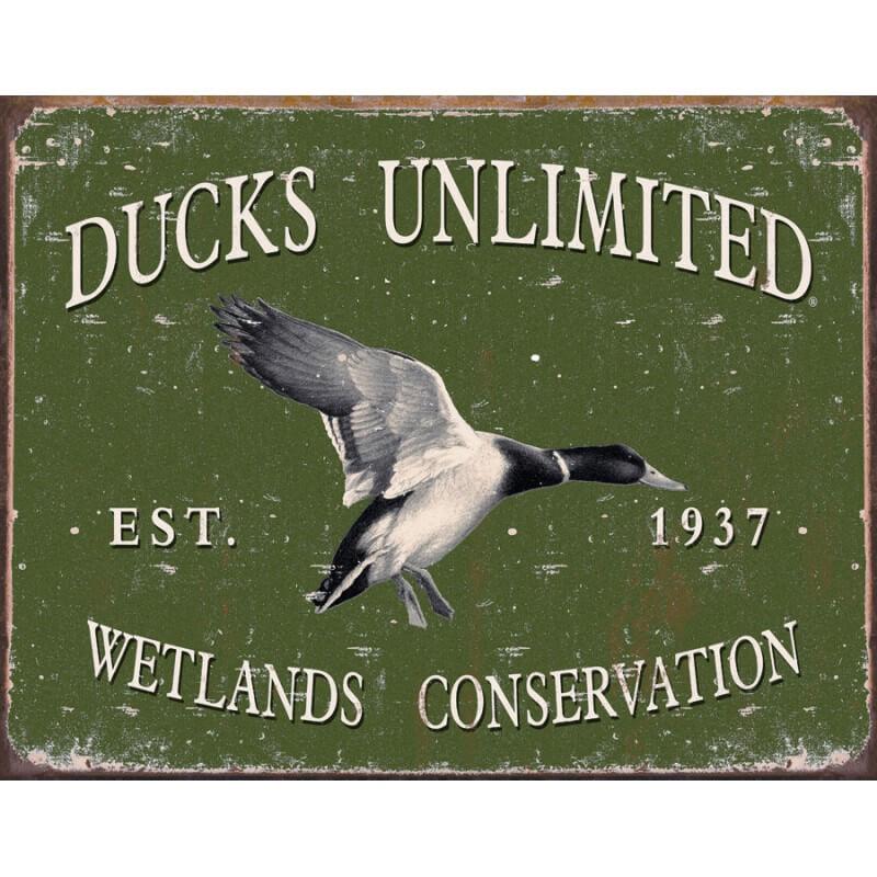 plaque publicitaire ducks unlimited us way of life. Black Bedroom Furniture Sets. Home Design Ideas