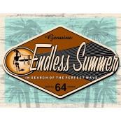 Plaque publicitaire métal Endless summer