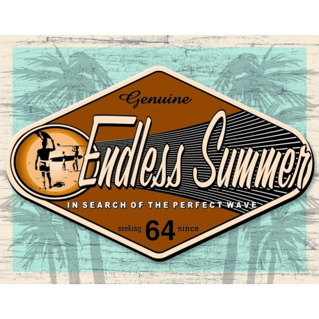 plaque publicitaire endless summer us way of life. Black Bedroom Furniture Sets. Home Design Ideas