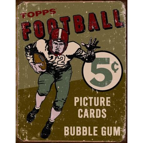 "Plaque publicitaire métal ""Football Topps"""