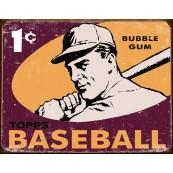 Plaque publicitaire métal Baseball Topps