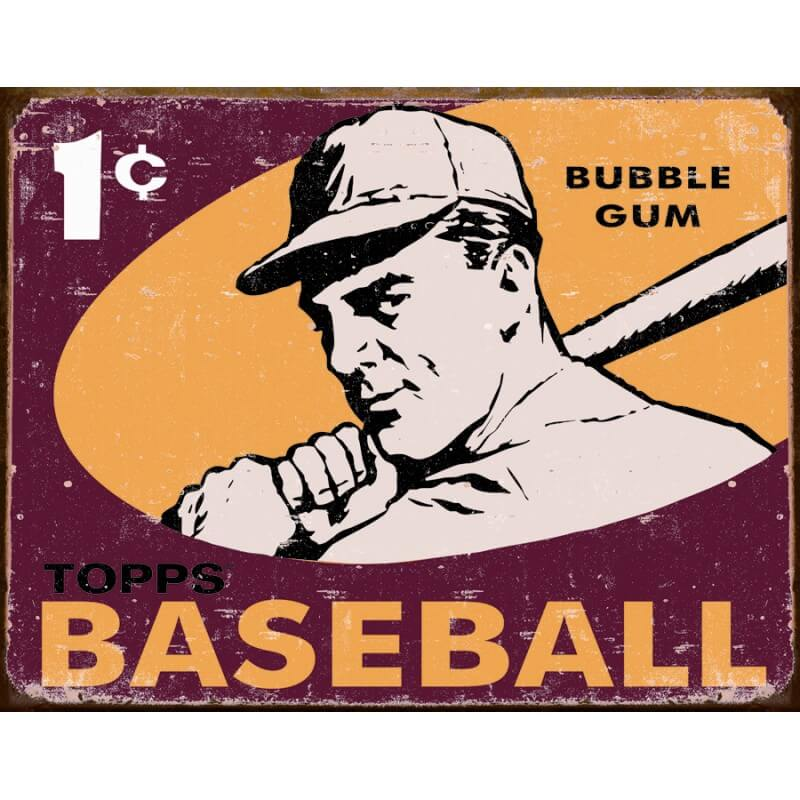 plaque publicitaire baseball topps us way of life. Black Bedroom Furniture Sets. Home Design Ideas
