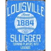 Plaque publicitaire métal Louisville Slugger