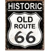 """Plaque publicitaire métal """"Route 66 Historic Old"""""""
