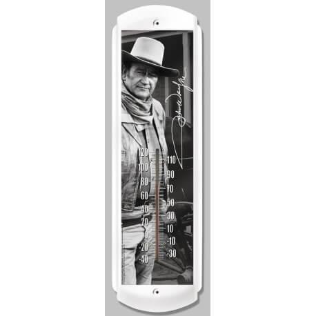 Thermomètre « John Wayne » métallique vintage haute qualité finition par thermo-laquage