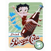 "Plaque publicitaire métal ""Betty Boop cola"""