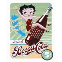 """Plaque publicitaire métal """"Betty Boop cola"""""""