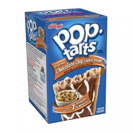 Kellogg's Pop Tarts pâte a cookie au chocolat: «Kellogg's Pop tarts choc chip cookie Dough»