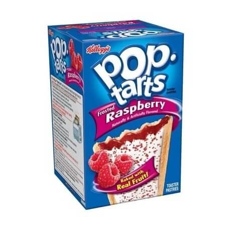 Kellogg's Pop Tarts à la framboise avec glacage: «Kellogg's Frosted raspberry Pop-Tarts»