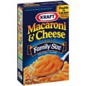 Macaroni et fromage Kraft GRAND FORMAT : «  Kraft macaroni and cheese Familly size »