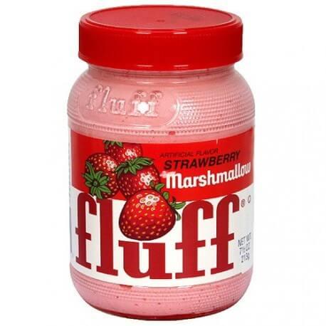 Pâte à tartiner Marshmallows saveur fraise : « Durker-Mower Strawberry Marshmallow Fluff »