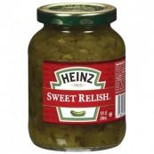 Sauce Relish au concombre Heinz : « Heinz sweet cucumber relish sauce »