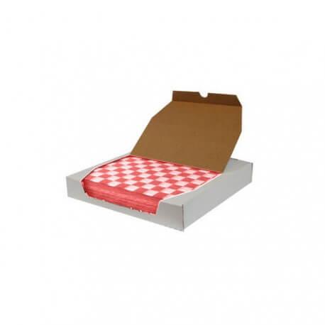 Papier sulfurisé damier 30x30cm boite de 1000 : «Sandwich wrap paper»