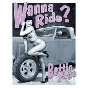"""Plaque publicitaire métal """"Bettie Page"""""""