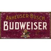 Plaque publicitaire métal Budweiser Anheuser-bush