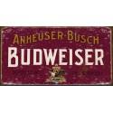"""Plaque publicitaire métal """"Budweiser Anheuser-bush"""""""