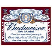Plaque publicitaire métal Budweiser king