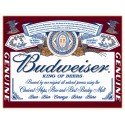 "Plaque publicitaire métal ""Budweiser king"""