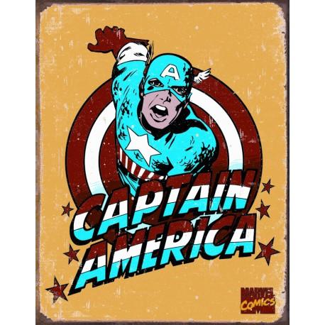 """Plaque publicitaire métal """"Captain América"""""""