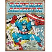 """Plaque publicitaire métal """"Captain América marvel age"""""""