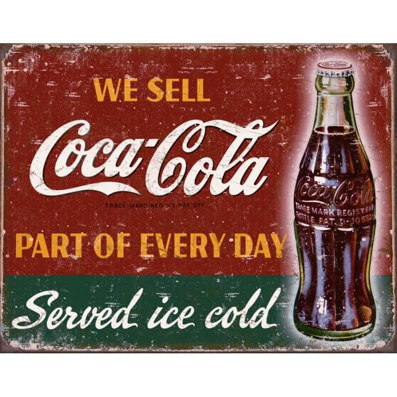 Plaque publicitaire coca cola we sell us way of life - Plaque publicitaire vintage ...