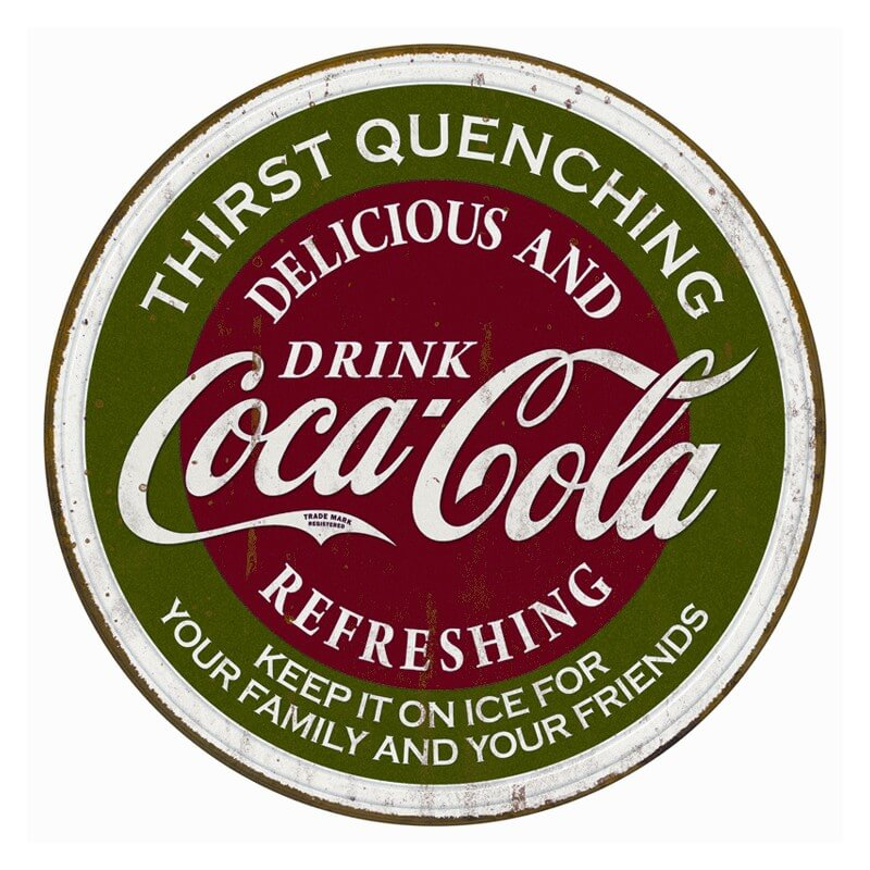plaque publicitaire coca cola us way of life. Black Bedroom Furniture Sets. Home Design Ideas