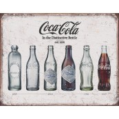 "Plaque publicitaire métal ""Coca-Cola in the distinctive bottle"""