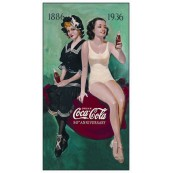 "Plaque publicitaire métal ""Coca-Cola 50 th anniversary"""
