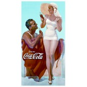 """Plaque publicitaire métal """"Coca-Cola drink"""""""