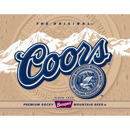 """Plaque publicitaire métal """"Coors the original"""""""