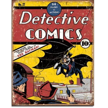"""Plaque publicitaire métal """"Batman"""""""