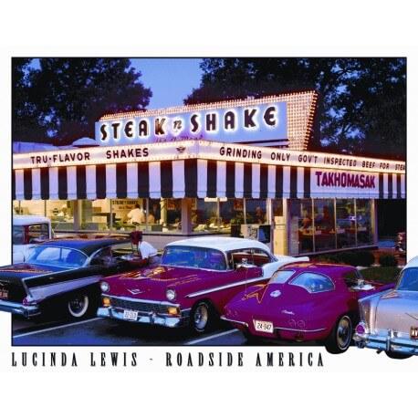"""Plaque publicitaire métal """"Steak n Shake"""""""