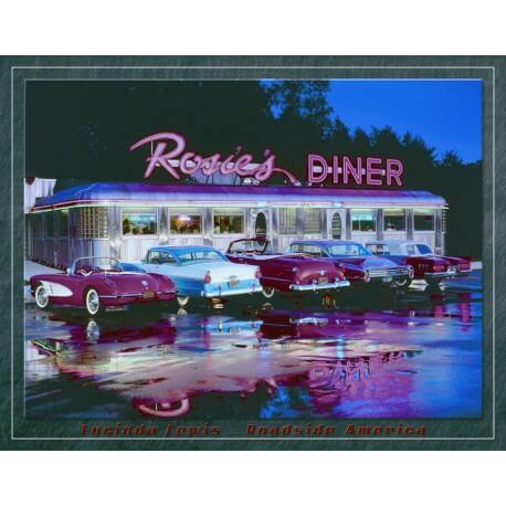 """Plaque publicitaire métal """"Rosie's Diner"""""""