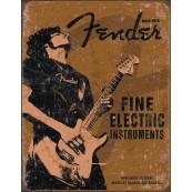 Plaque publicitaire métal Fender