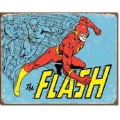Plaque publicitaire métal Flash