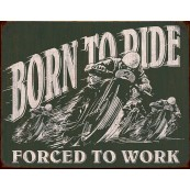 Plaque publicitaire métal Born to ride