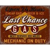 Plaque publicitaire métal Last chance