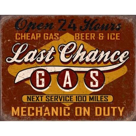 """Plaque publicitaire métal """"Last chance"""""""