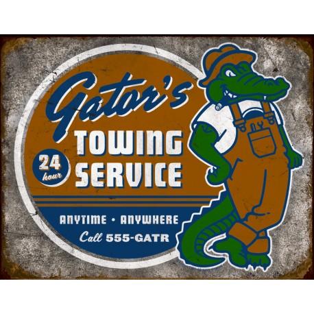 """Plaque publicitaire métal """"Gator's service"""""""
