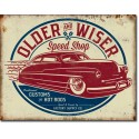 """Plaque publicitaire métal """"Older and wiser"""""""