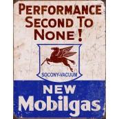 Plaque publicitaire métal Mobil gas
