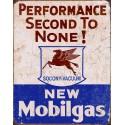 """Plaque publicitaire métal """"Mobil gas"""""""
