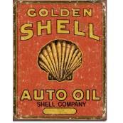 Plaque publicitaire métal Shell