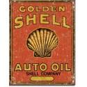 """Plaque publicitaire métal """"Shell"""""""