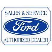 Plaque publicitaire métal Ford sales and service