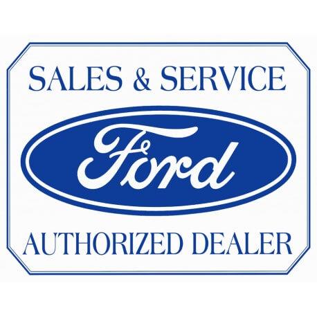 """Plaque publicitaire métal """"Ford sales and service"""""""