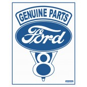 "Plaque publicitaire métal ""Ford Genuine parts"""