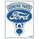 """Plaque publicitaire métal """"Ford Genuine parts"""""""