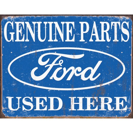 plaque publicitaire ford genuine parts used here us way of life. Black Bedroom Furniture Sets. Home Design Ideas